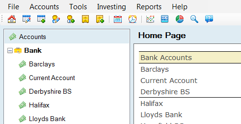 Personal accounts software